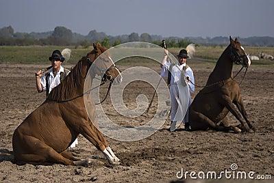 Horsemen, Bugac, Hungary Editorial Stock Photo