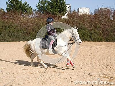 Horseriding girl