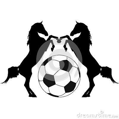 Horses with ball