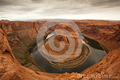 Horseshoe Bend with Colorado River in Grand Canyon