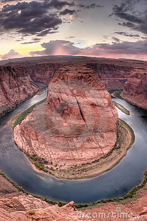 Horseshoe Bend near Page, Arizona at Sunset