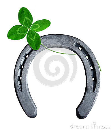 Horseshoe with clover