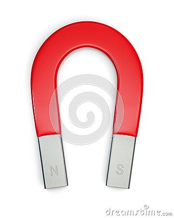 Horseshoe magnet isolated on white