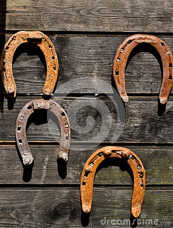Free Horseshoes - Symbols Of Good Luck Stock Photo - 27374640