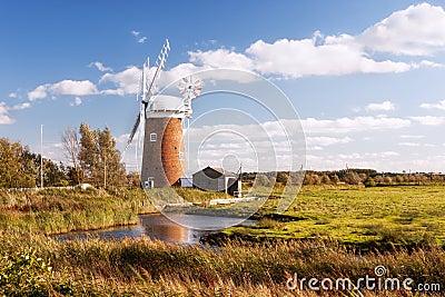 Horsey wind pump, Norfolk in United Kingdom.