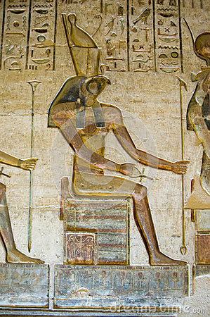 Horus God on Throne