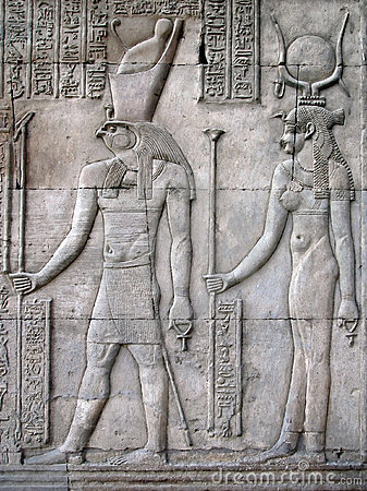 Horus and Hathor, Temple of Kom Ombo, Egypt