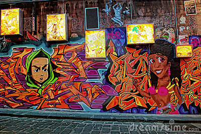Hosier Lane Editorial Stock Image