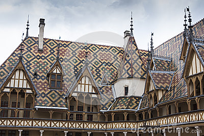Hospices de dieu in burgundy