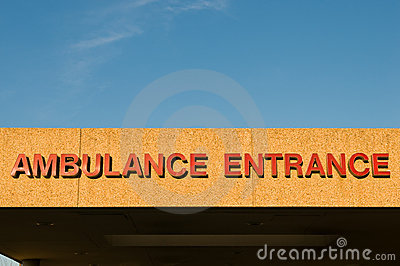 Hospital ambulance entrance