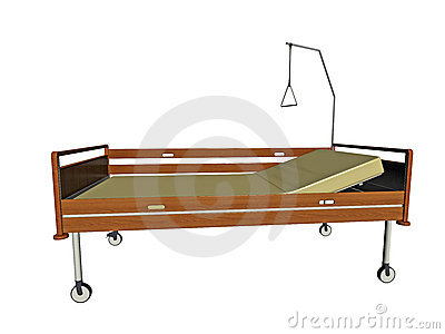 Hospital bed illustration