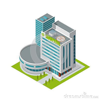 Free Hospital Building Isometric Royalty Free Stock Images - 40781809