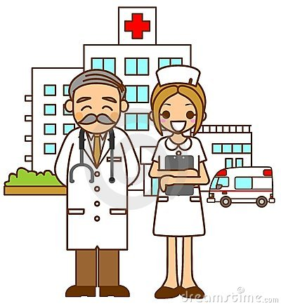 Hospital doctors and nurse