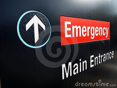 Hospital: emergency sign