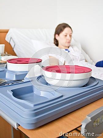 Hospital food tray