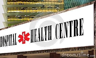 Hospital & health center banner .