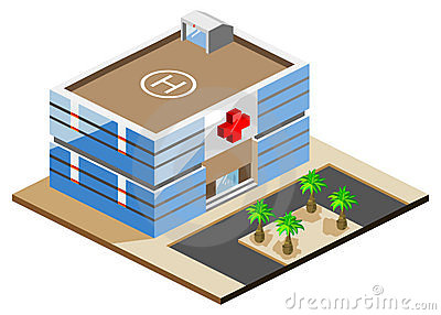 Hospital Isometric Editorial Photo