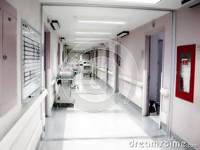 Hospital Maternity Ward Hallway