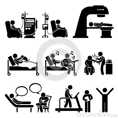 Hospital Medical Therapy Treatment Cliparts Stock Vector - Image ...