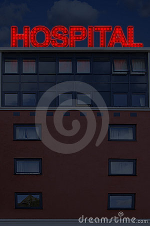 Hospital at night