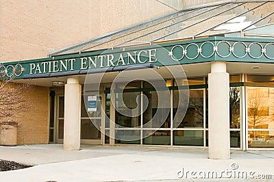 Hospital patient entrance