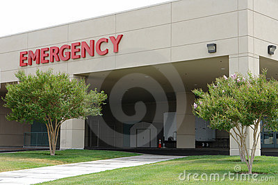 Hosptal emergency entrance sign