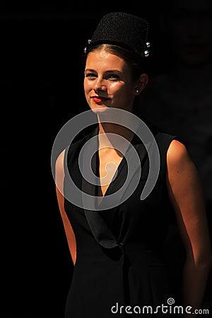 Hostess at amsterdam fashion week Editorial Stock Photo