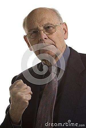 Hostile businessman