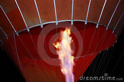 Hot air ballon light a fire