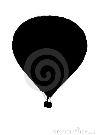 Hot air ballon silhouette