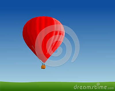 Hot air ballon in sky