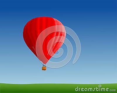 Hot air ballon in sky
