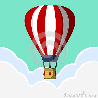 Free Hot Air Ballon Travel Vector Design Royalty Free Stock Image - 107200946