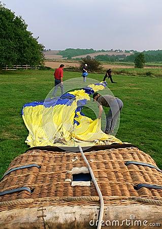 Hot air balloon and basket