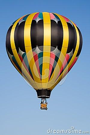 Hot air balloon blue sky