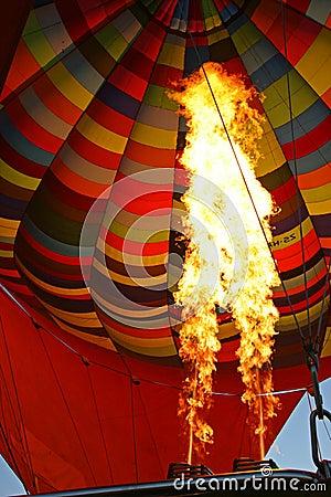 Hot Air Balloon Burning Air