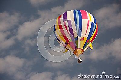 Hot air balloon in clear sky