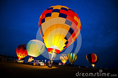 Hot Air Balloon Colors, Evening Night Glow Lights