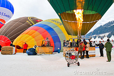 Hot Air Balloon Festival 2012, Switzerland Editorial Photography