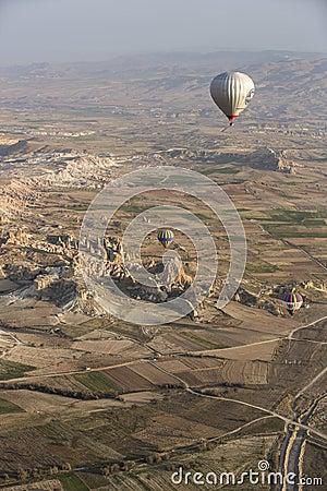 Hot air balloon flight in Cappadocia, Turkey. Editorial Photography
