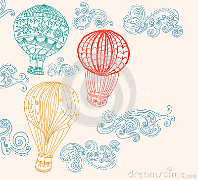 Free Hot Air Balloon In Sky Background Royalty Free Stock Photo - 29774615