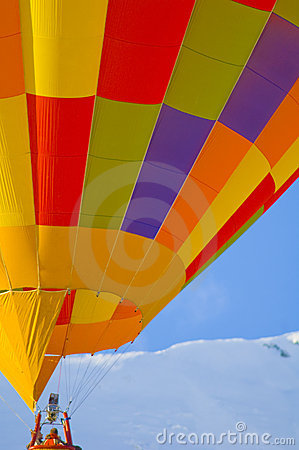 Free Hot Air Balloon In The Swiss Alps Royalty Free Stock Images - 4142739