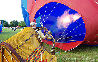 Hot Air Balloon Inflation Editorial Stock Photo
