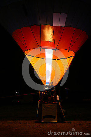 Hot air balloon by night