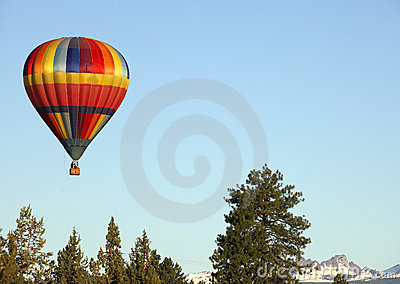 Hot Air Balloon over Bend,OR.