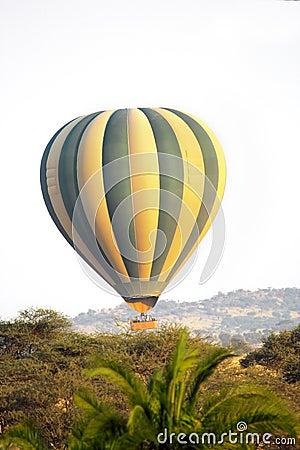 Free Hot Air Balloon Over The African Savannah Stock Photos - 57652233