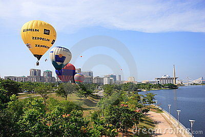 Hot Air Balloon Putrajaya Editorial Photo