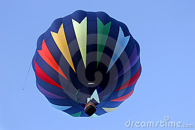 Hot air balloon in rainbow colors