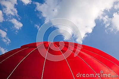 Hot air balloon - red