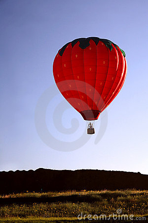 Hot Air Balloon Ride Closeup
